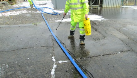 Cleaning, Testing and Chlorination of a Two-Cell Reservoir