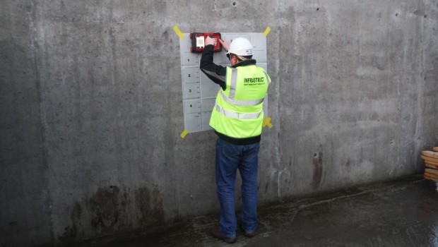 Infrastruct uses the Hilti PS-1000 GPR on Retaining Wall