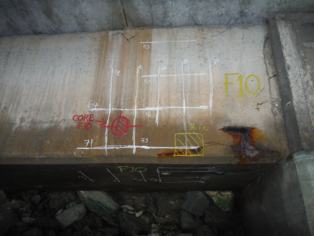Concrete Testing on Reinforced Concrete Berthing Structure