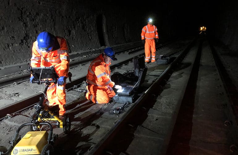 Non-Destructive Testing on Railway Track Slabs