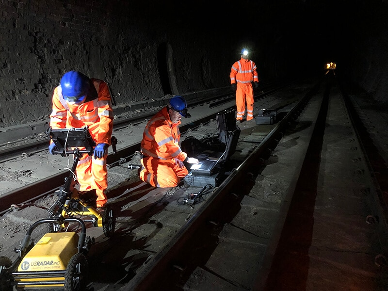Non-Destructive Testing on Railway Track Slabs