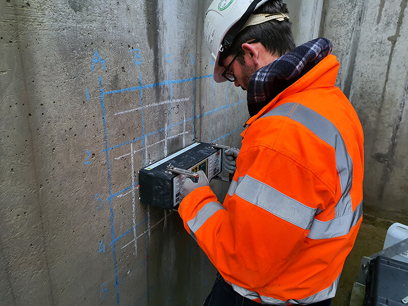 Non-Destructive Testing On Reinforced Concrete Tanks