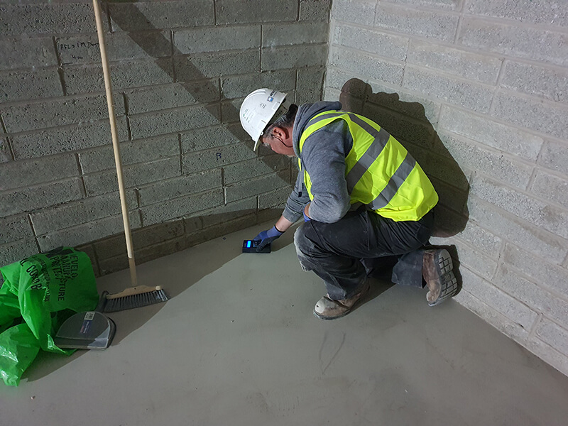 Moisture Testing in Concrete Floor Slabs